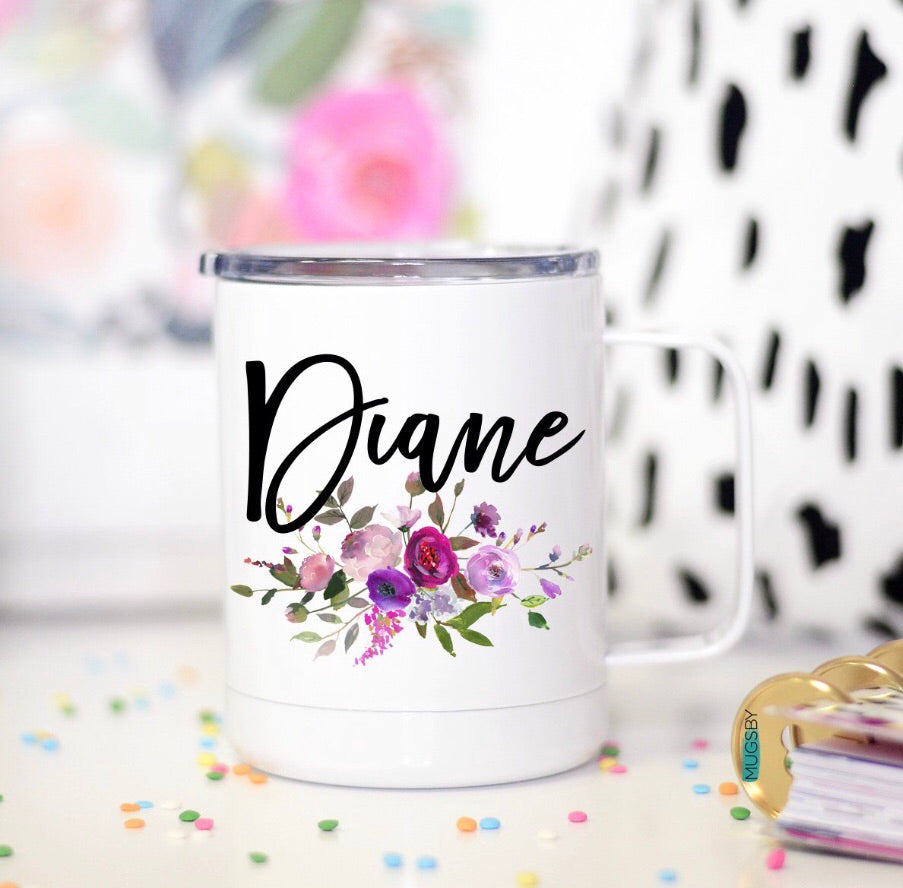 PREORDER Floral Personalized Stainless Mugs
