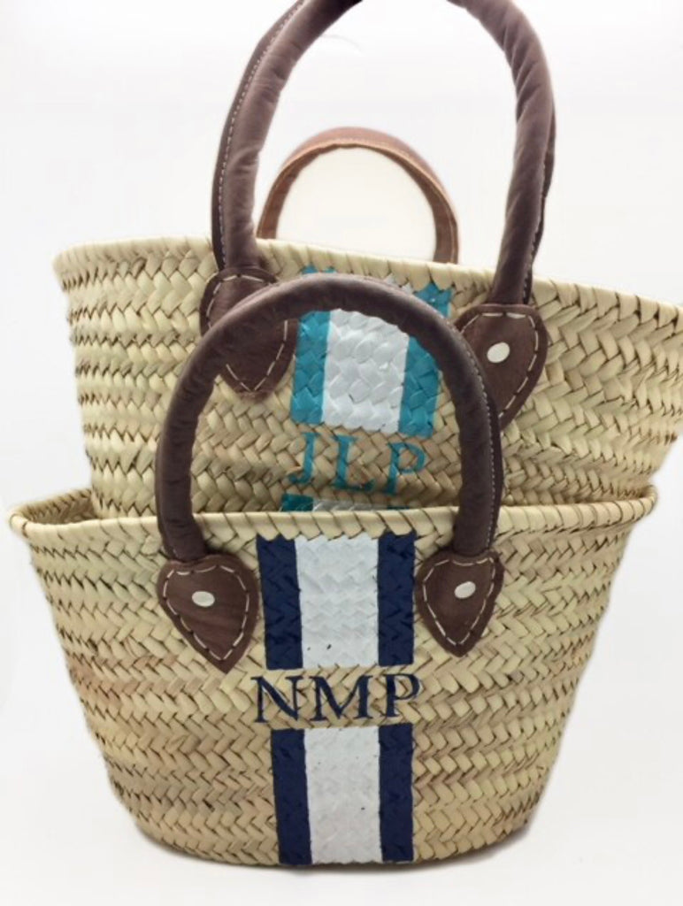 Painted Straw Tote (Small) PREORDER