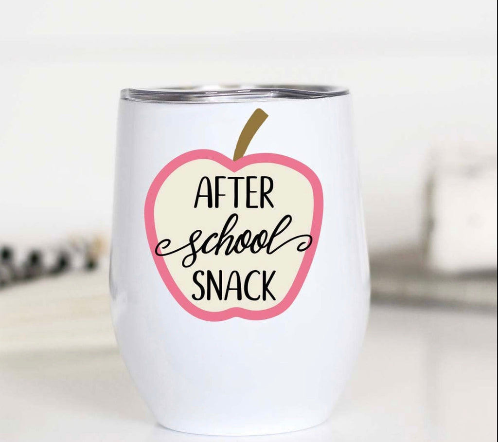 After School Snack Stainless Wineglass