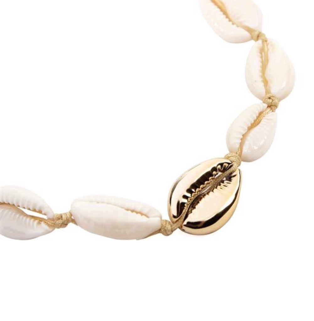 Sea Shell Charm Slide Bracelet