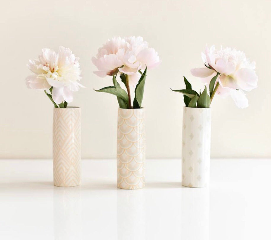 Coton Colors Blush Bud Vases - Set of 3