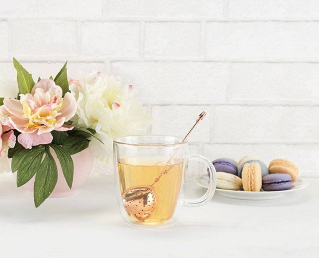 Heart Rose Gold Tea Infuser