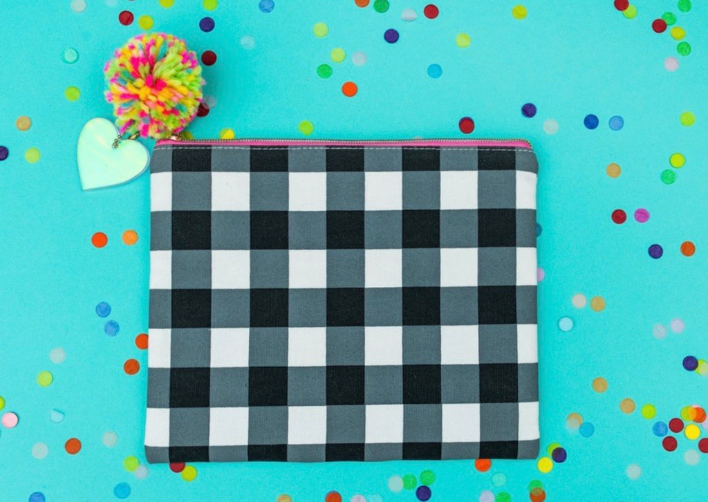 Black Gingham Pouch