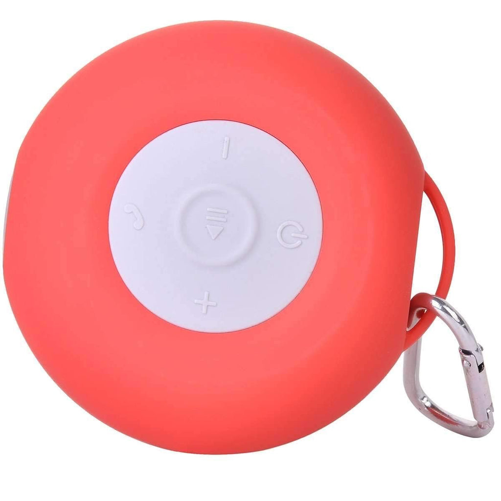 Red Silicone Stick Anywhere Waterproof Speaker
