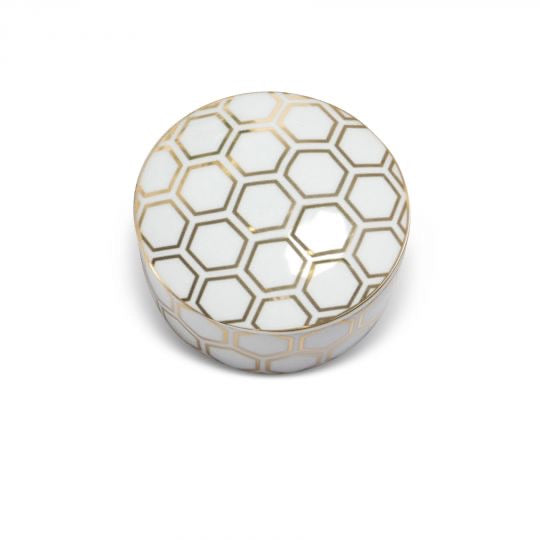 Honeycomb Gold Trinket Box