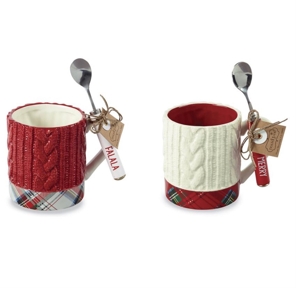 Ceramic Cable Knit Mug