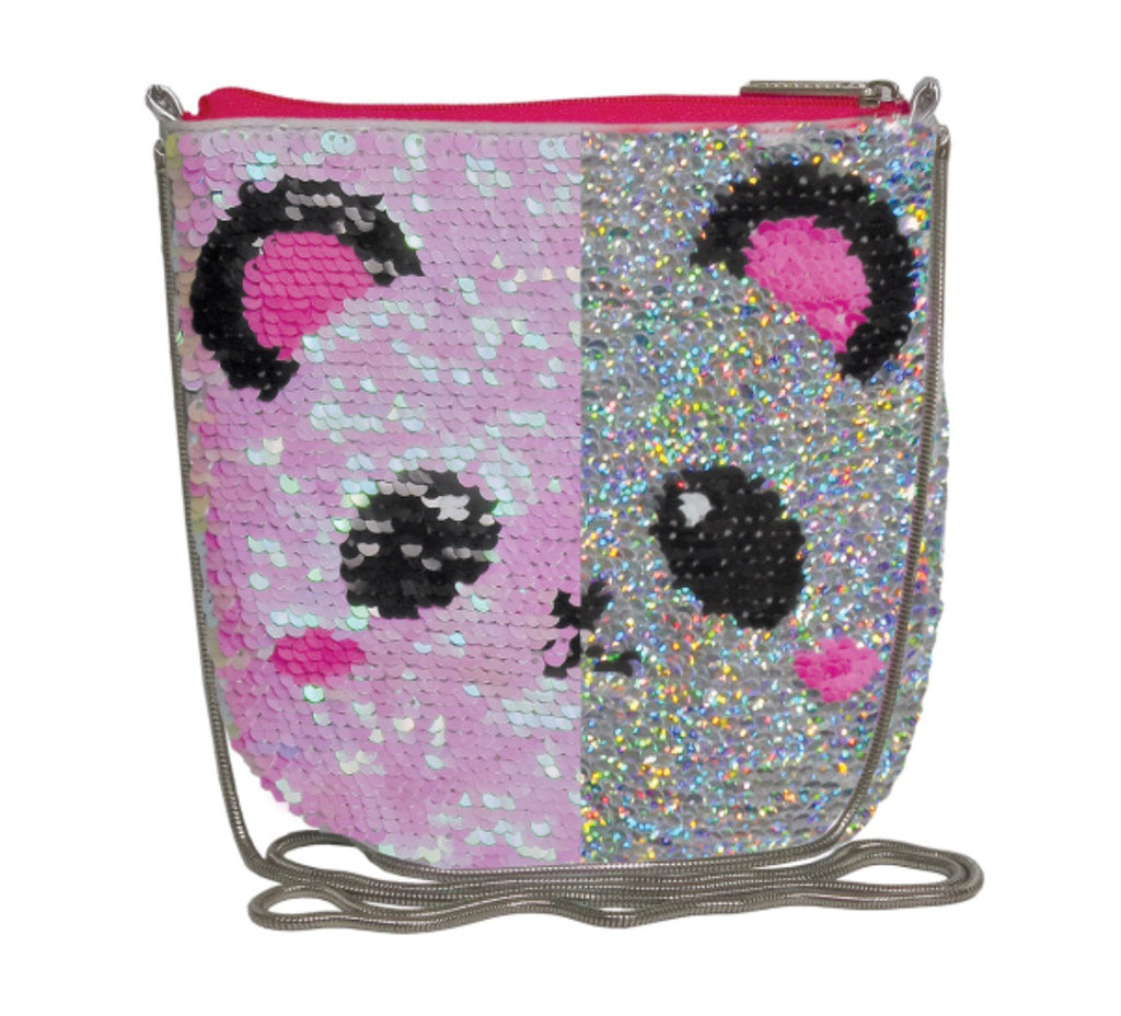 Panda Sequins Crossbody