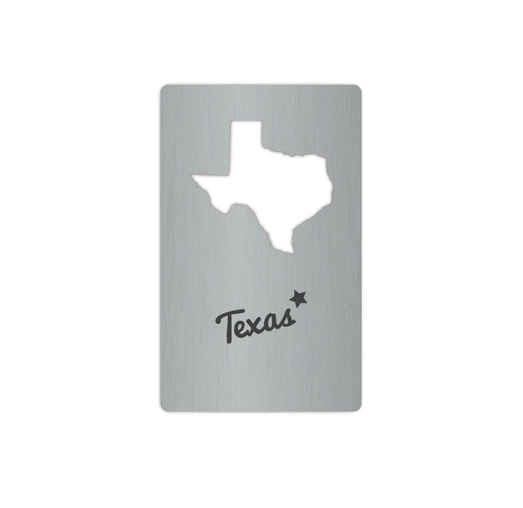 Texas Card Bottle Opener