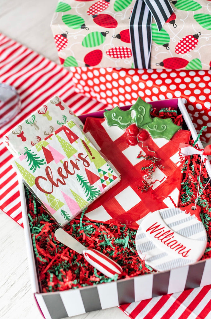 Holiday Cheese Tray and Ornament Box