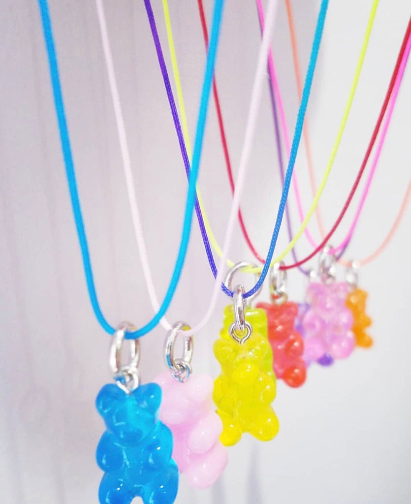 Mermaid and Gummy Bear Necklaces