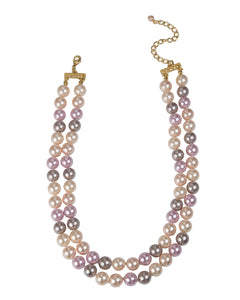 2 STRAND FAUX PEARL NECKLACE