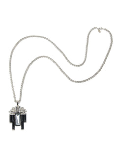 DECO NECKLACE CHAIN W/DROP