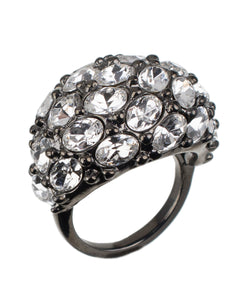 OVAL PAVE DOME RING