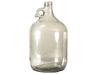 FERMENTER - CLEAR GLASS JUG (ONE GALLON)