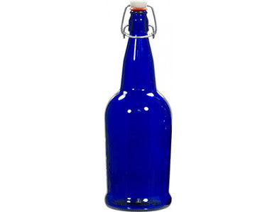 BOTTLE - 1 LITER - BLUE SWING TOP GROLSCH BOTTLES (12/CASE)