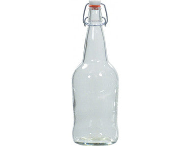 BOTTLE - 1 LITER - CLEAR SWING TOP GROLSCH BOTTLES (12/CASE)
