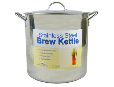 KETTLE - 42 QT STAINLESS STEEL BREWING POT WITH LID