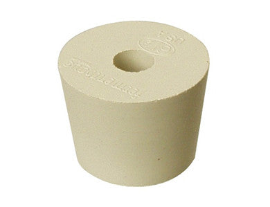 BUNG - #6.5 DRILLED RUBBER STOPPER