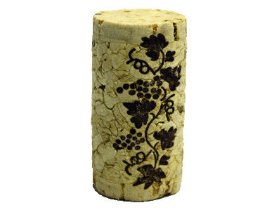 CORK - 9 X 1-3/4 FIRST QUALITY STRAIGHT WINE CORKS 44 X 23mm (30/BAG)