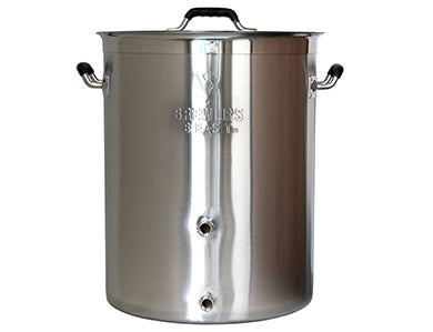 KETTLE - BREWER'S BEST 8 GALLON SS BREW POT W/ 2 PORTS & LID