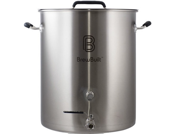 KETTLE - BREWBUILT 10 GALLON STAINLESS W/ VALVE & THERMOMETER