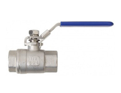"BALL VALVE - 1/2"" FULL PORT - STAINLESS"