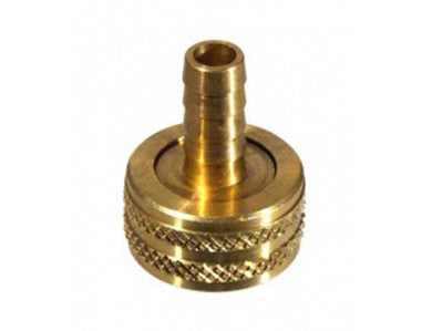 "BARB - BRASS FEMALE GARDEN HOSE X 3/8"" BARB"