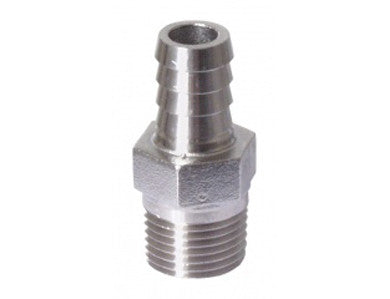 "BARB - 1/2"" MPT X 1/2"" - STAINLESS"