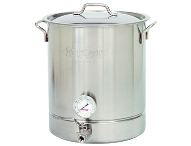 KETTLE - BAYOU CLASSIC 10-GALLON STAINLESS W/ BALL VALVE AND THERMOMETER