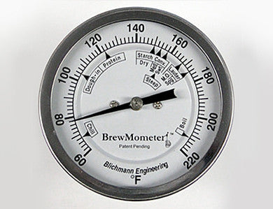 BLICHMANN BREWMOMETER - WELDLESS, ADJUSTABLE F SCALE