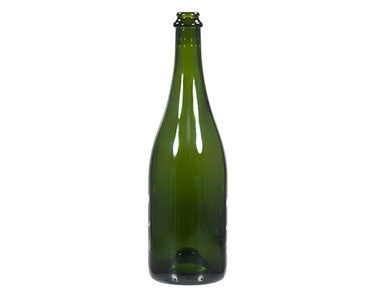 BOTTLE - 750mL - VINEYARD GREEN CHAMPAGNE BOTTLES 12/CASE