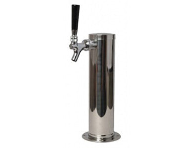 "DRAFT TOWER - SINGLE FAUCET CHROME (3"" DIAMETER)"