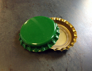 CAP - GREEN - PACKAGED CROWN CAPS WITH OXY-LINER (144/BAG)