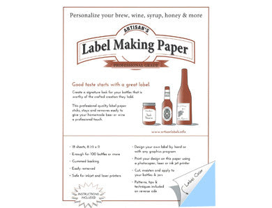 LABEL MAKING PAPER - BLUE (18/PACK)