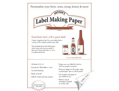 LABEL MAKING PAPER - WHITE (18/PACK)