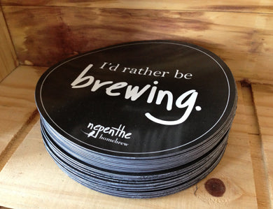 RATHER BE BREWING CAR MAGNET