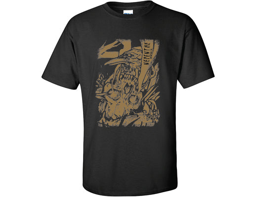 T-SHIRT - SKULL - BLACK (2XL)