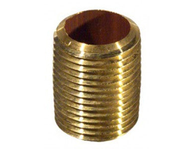 "NIPPLE - 1/2"" CLOSE - BRASS"