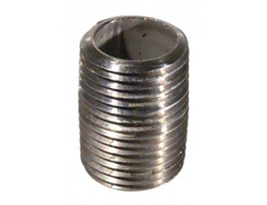 "NIPPLE - 1/2"" X 1"" THREADED (CLOSE) - STAINLESS"