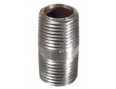 "NIPPLE - 1/2"" X 1-1/2"" THREADED - STAINLESS"
