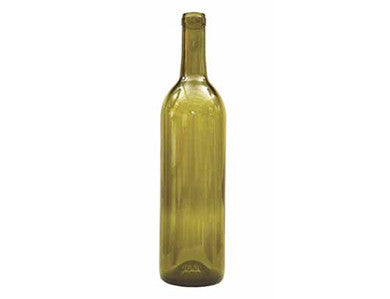 BOTTLE - 750mL - GREEN OPTIMA BORDEAUX FLAT BOTTOM WINE BOTTLES (12/CASE)