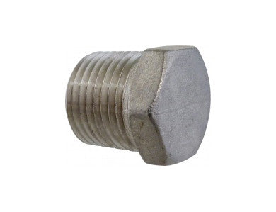 "PLUG - 1/2"" MPT HOLLOW - STAINLESS"