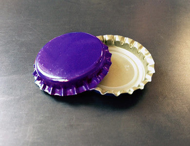 CAP - PURPLE - PACKAGED CROWN CAPS WITH OXY-LINER (144/BAG)