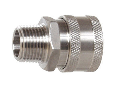 "QUICK DISCONNECT - STAINLESS W/ 1/2"" THREAD (MPT) - FEMALE"