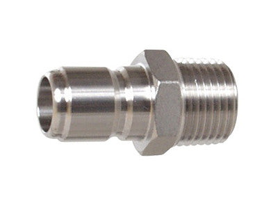 "QUICK DISCONNECT - STAINLESS W/ 1/2"" THREAD (MPT) - MALE"