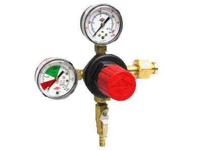 TAPRITE DUAL GAUGE CO2 REGULATOR 5/16 SHUTOFF