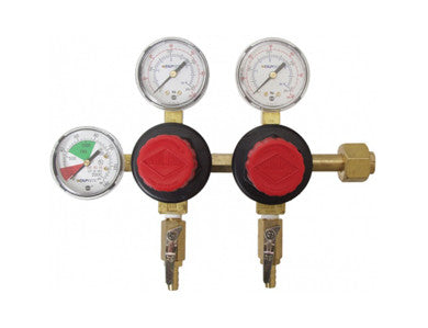 TAPRITE CO2 REGULATOR - DUAL BODY - THREE GAUGE