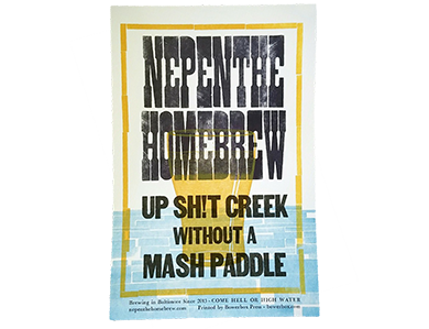UP SH!T CREEK POSTER PRINT