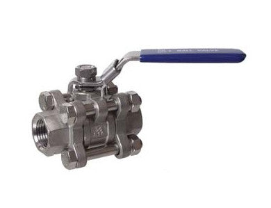 "BALL VALVE - 1/2"" - 3 PIECE - STAINLESS"