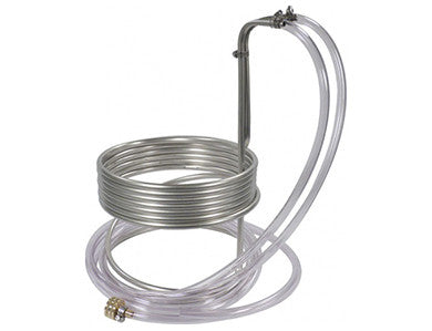 "WORT CHILLER - STAINLESS  25' x 3/8"" W/ TUBING"
